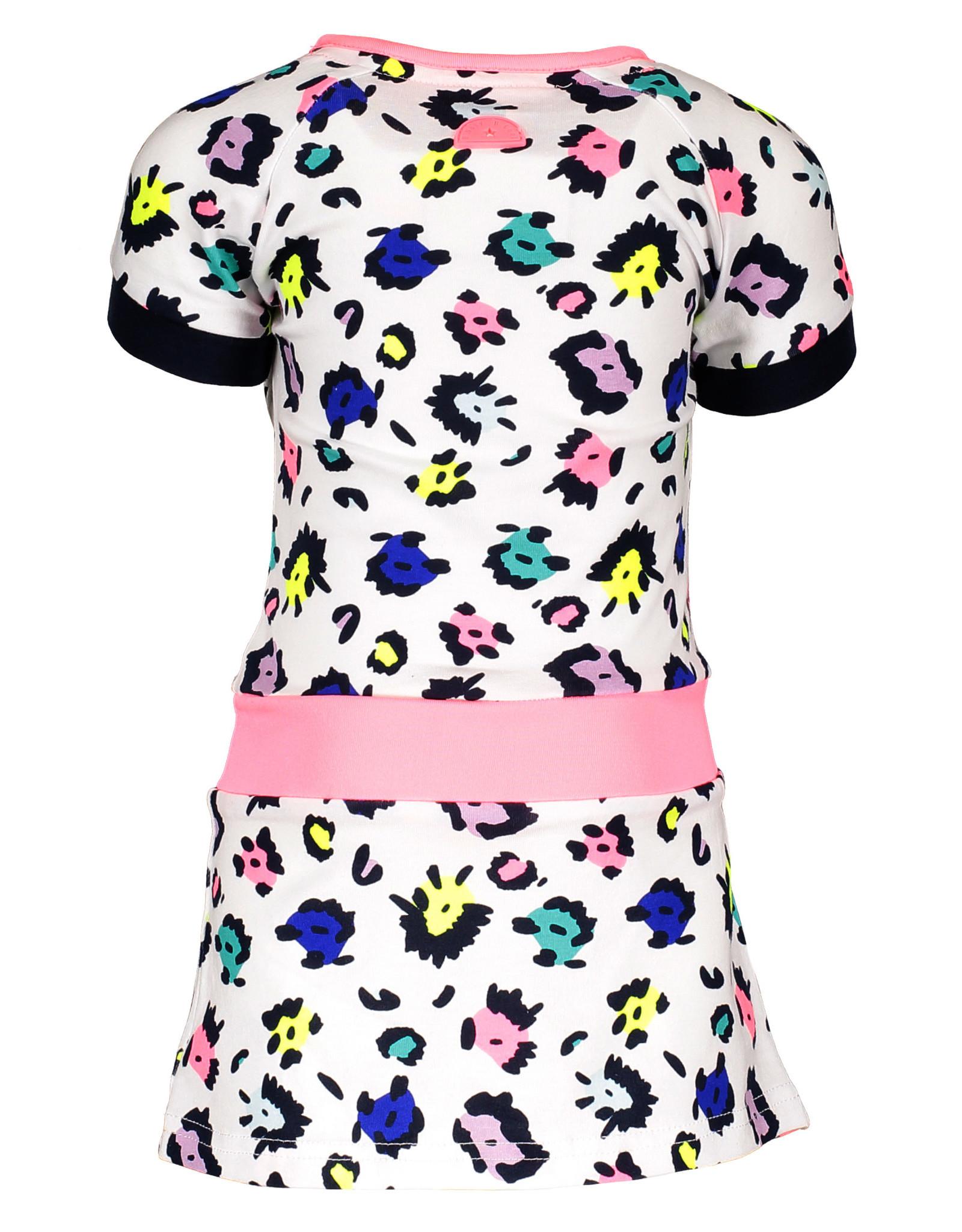 B.Nosy B.Nosy baby meisjes jurk met band en AO print