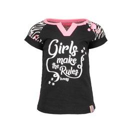 B.Nosy B.Nosy baby meisjes t-shirt met flamingo print