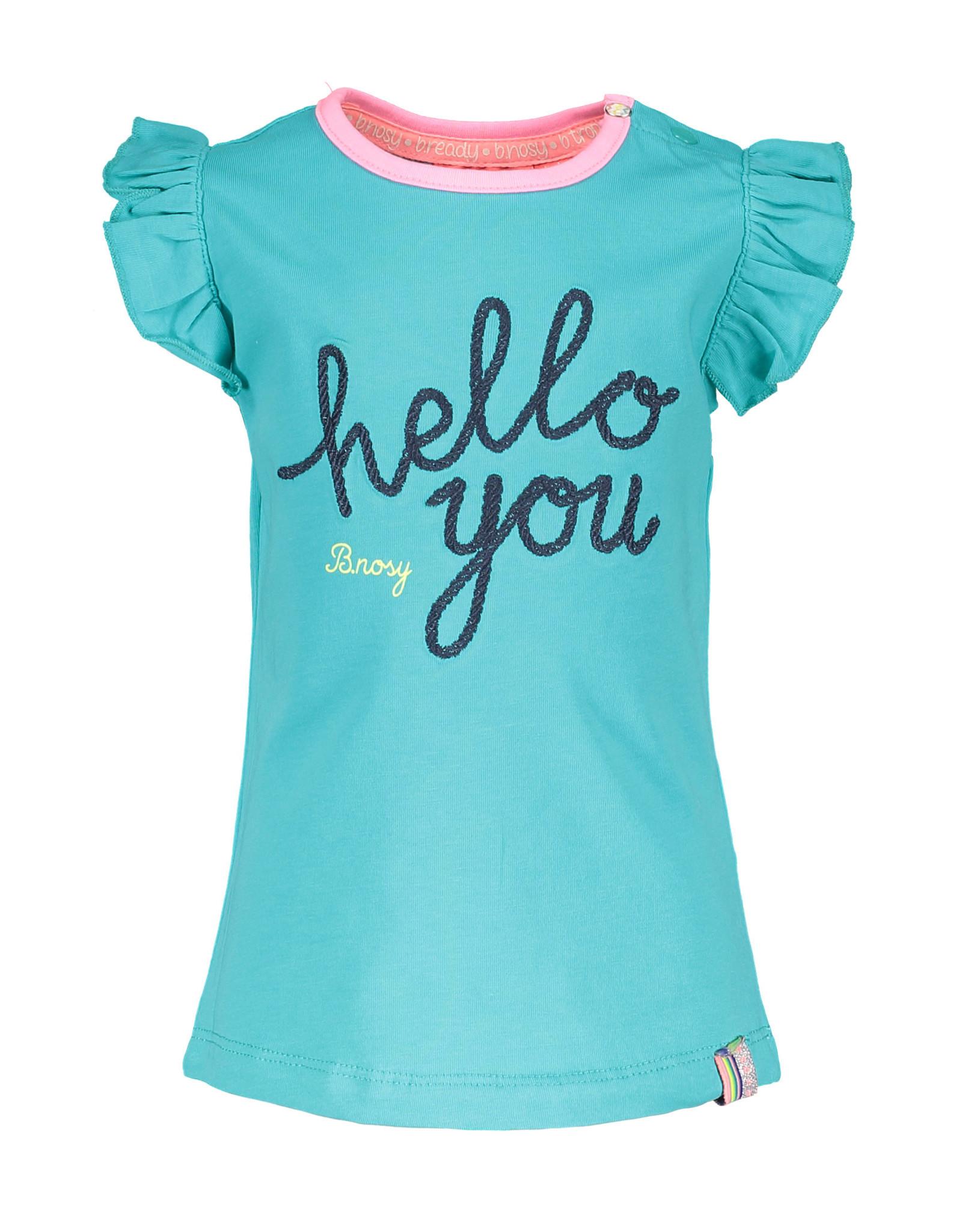 B.Nosy B.Nosy baby meisjes t-shirt Hello You