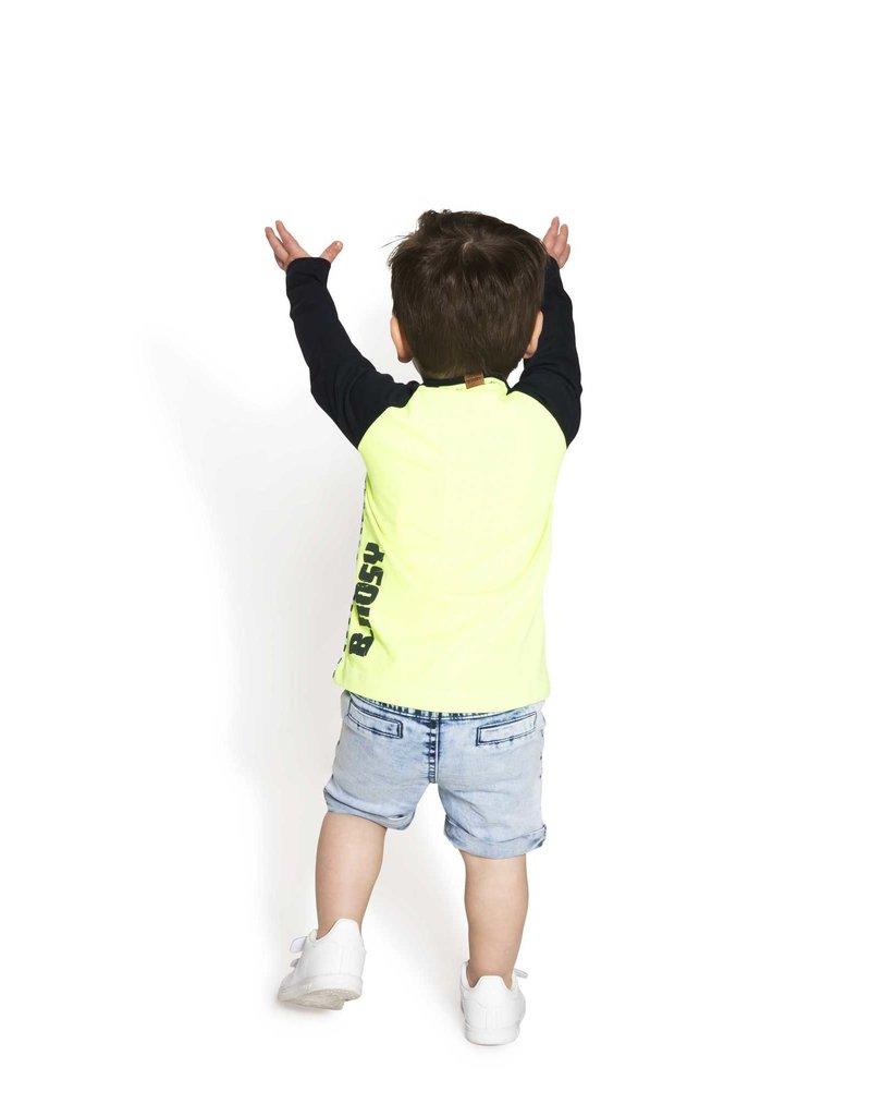 B.Nosy B.Nosy baby jongens shirt met bus op strepen