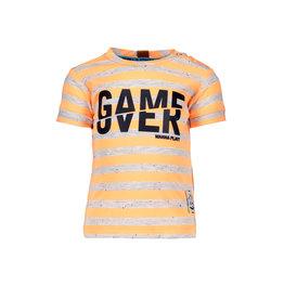 B.Nosy B.Nosy baby jongens gestreept t-shirt Game Over