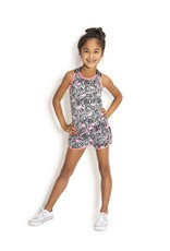 B.Nosy B.Nosy  meisjes beach korte broek met flamingo print