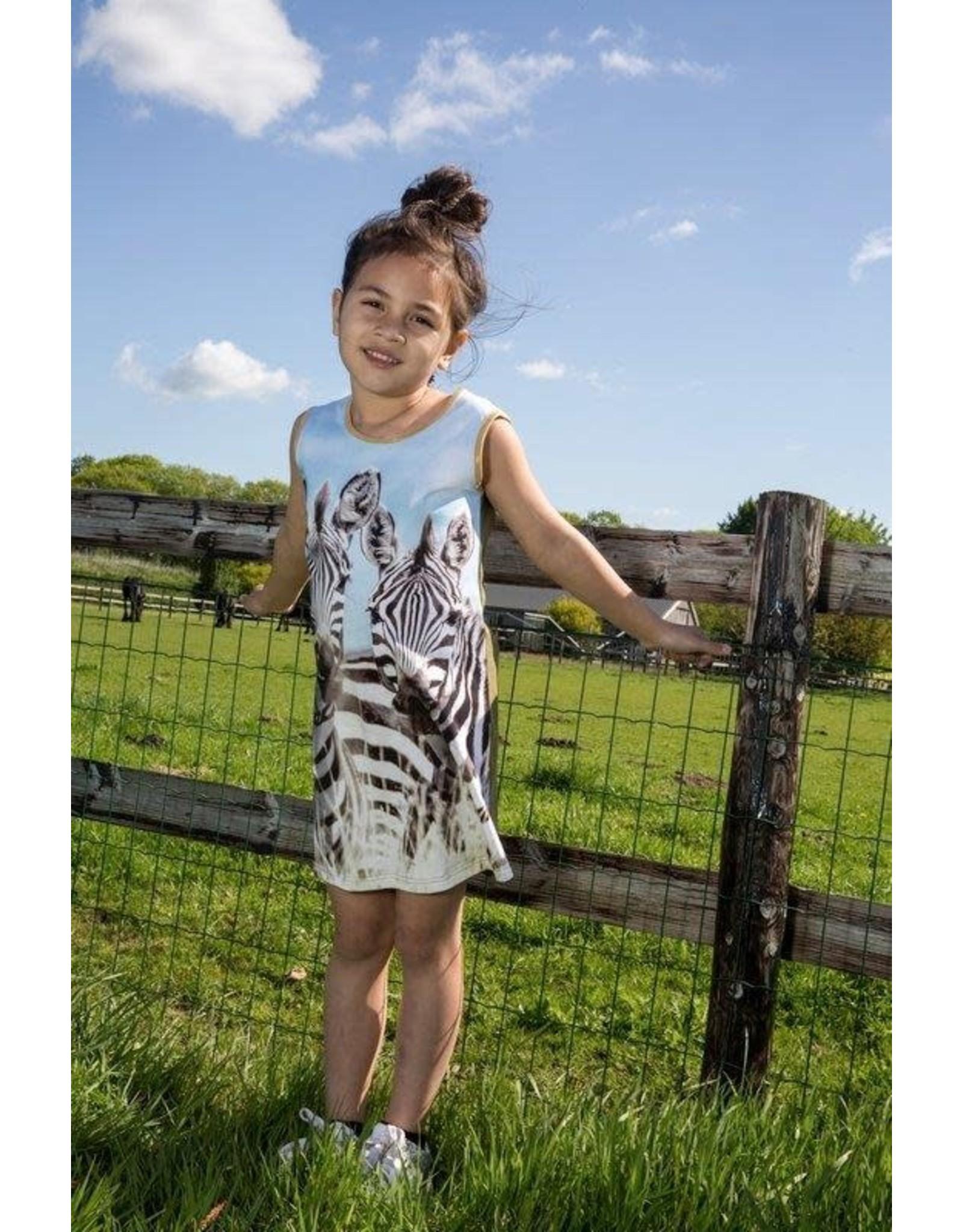Lovestation Love Station meisjes mouwloze jurk Zebra