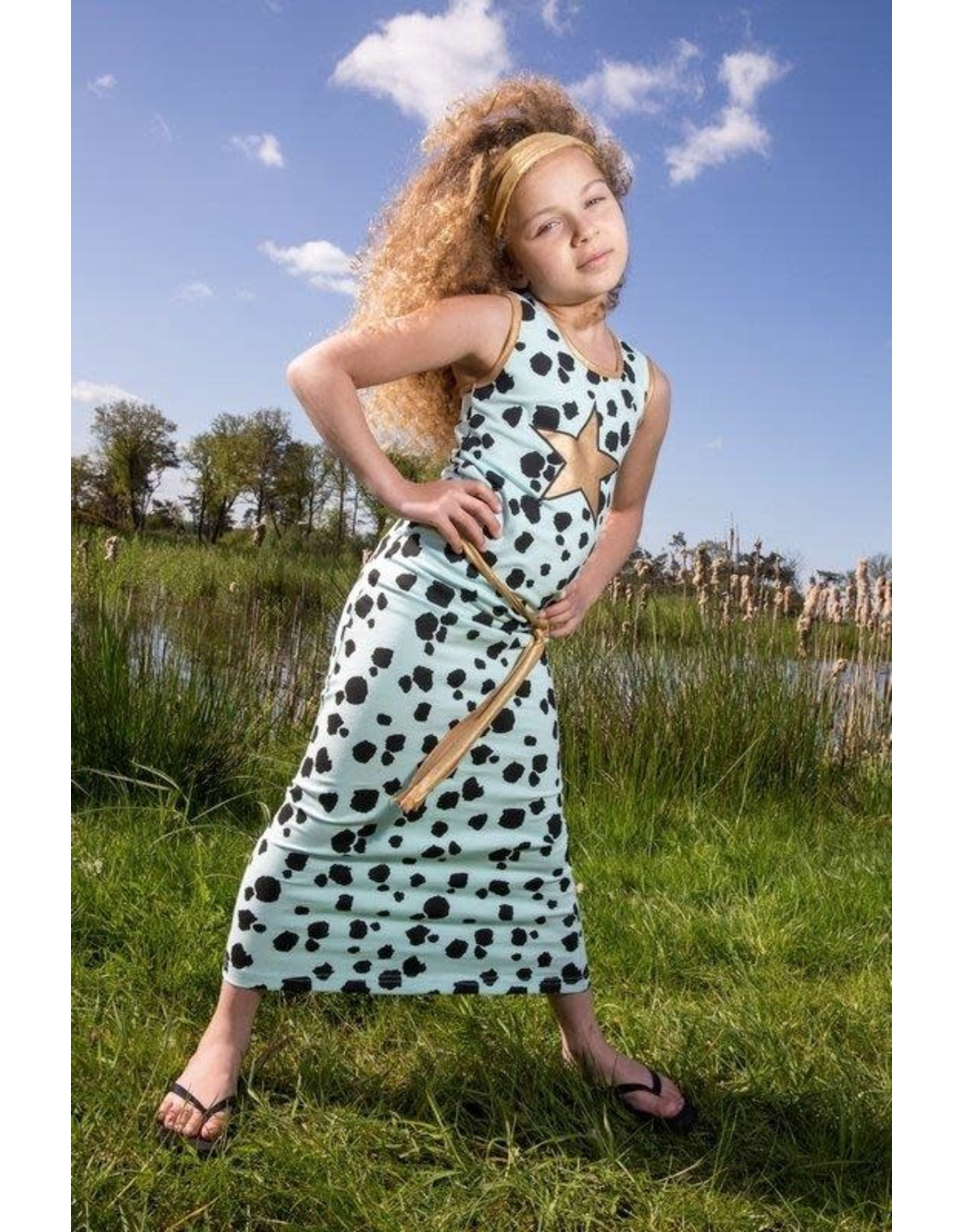 Lovestation Love Station meisjes lange mouwloze jurk Nora