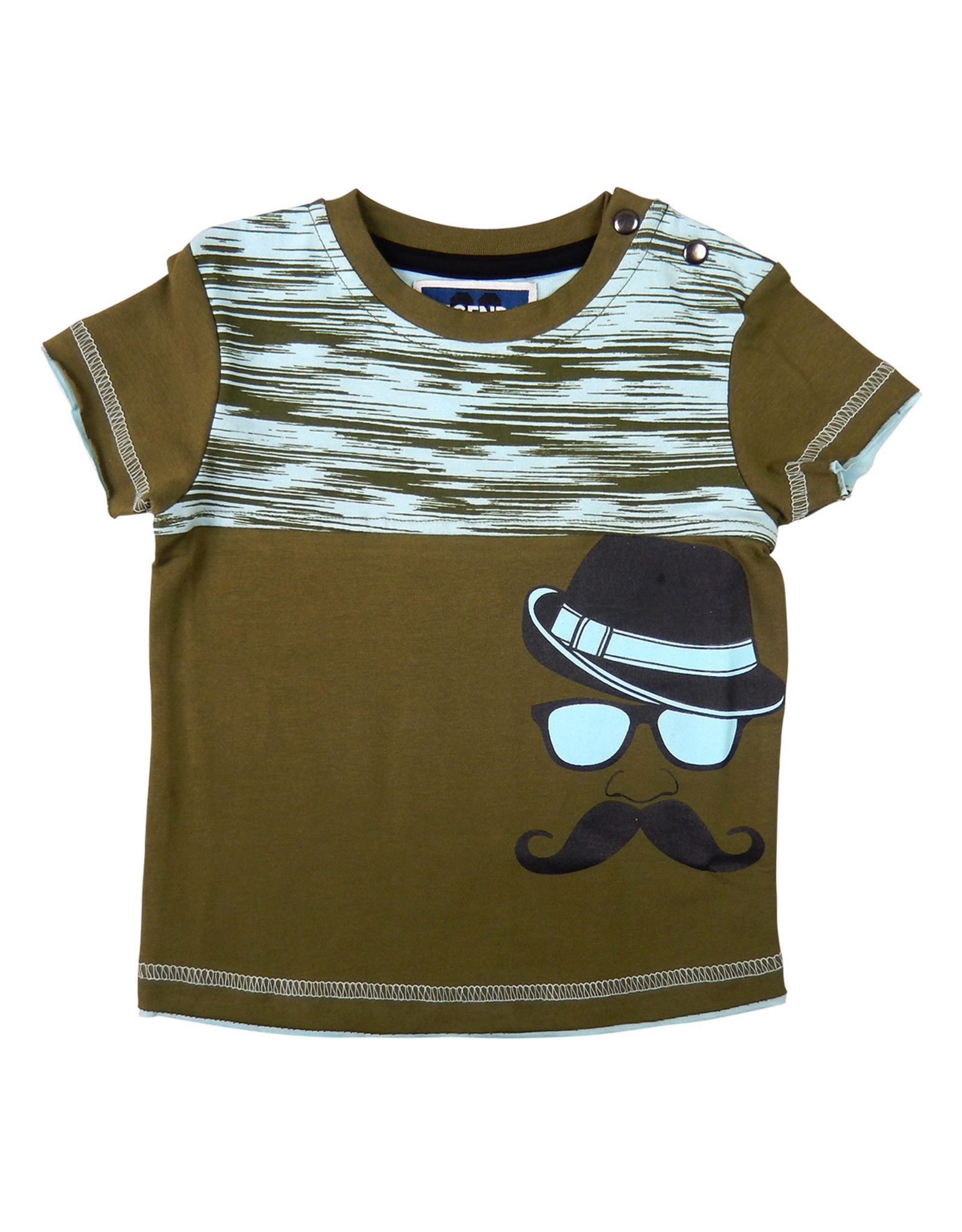 Legends22 Legends baby jongens t-shirt Mr Moustache
