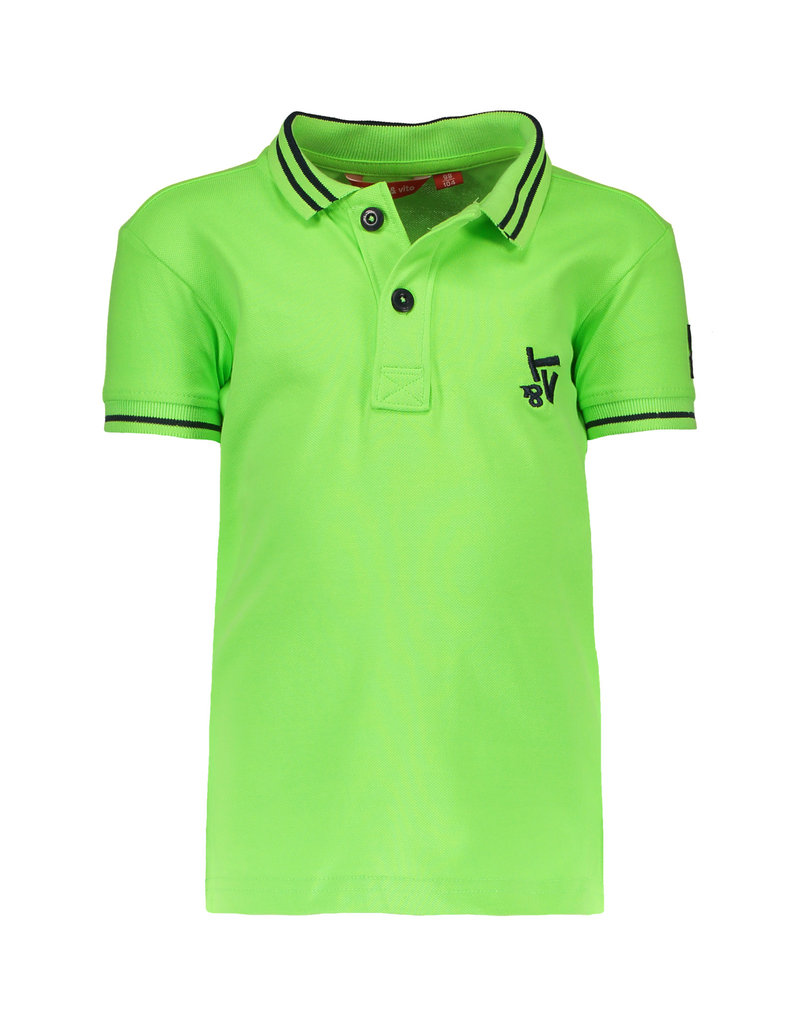 TYGO & vito TYGO & vito jongens polo t-shirt Neon Gecko
