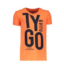 TYGO & vito TYGO & vito jongens t-shirt T&V Shocking Orange