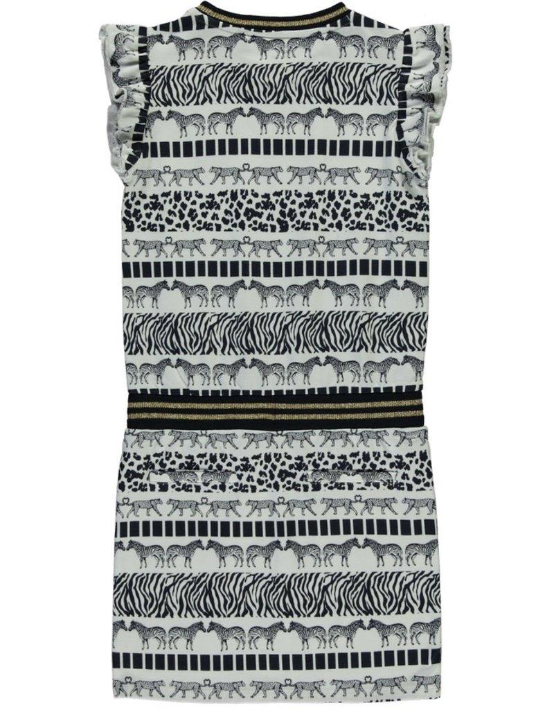 Quapi Quapi meisjes jurk Sezina Panter/Zebra
