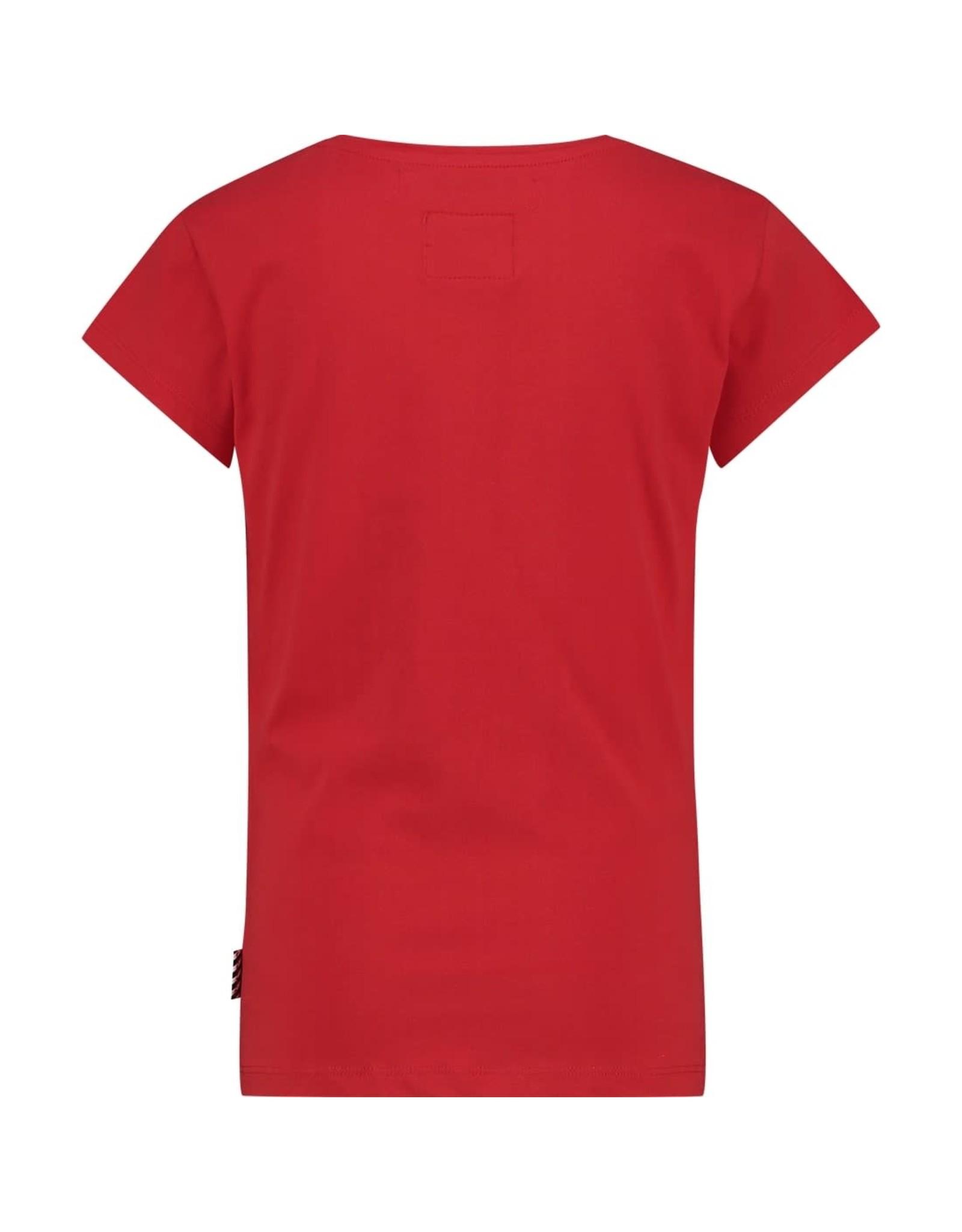 Vingino Vingino meiden Warchild t-shirt Lulu Red