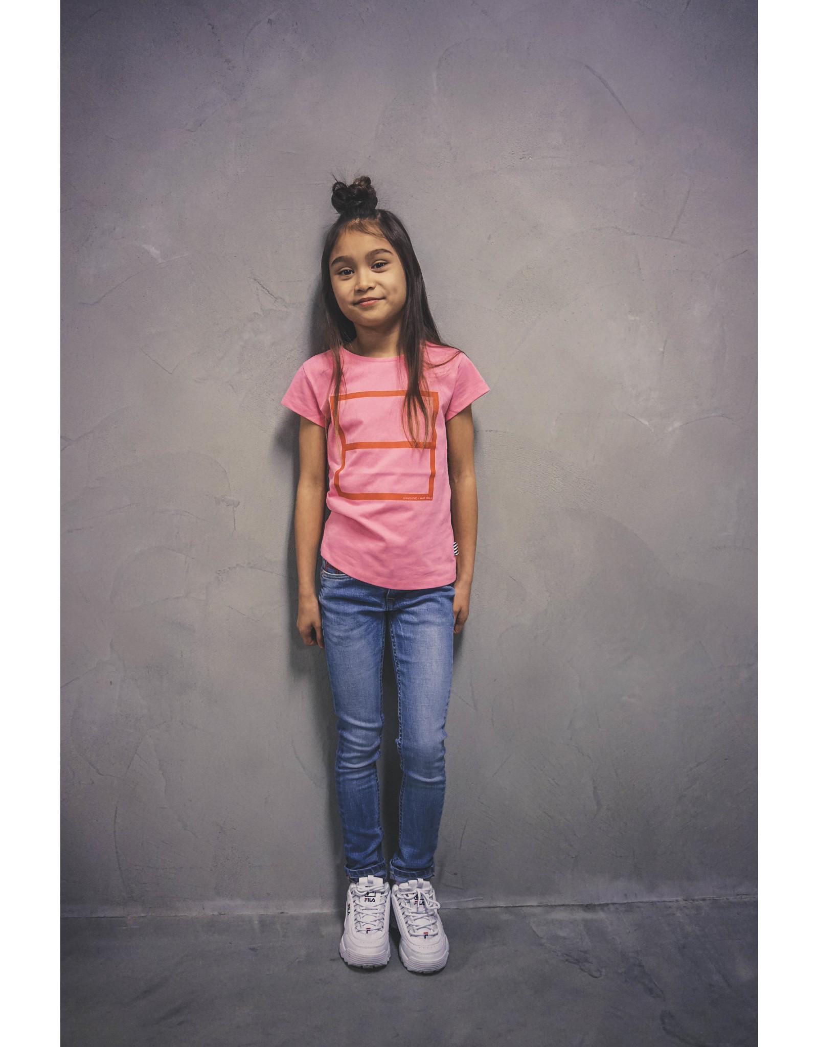 Vingino Vingino meiden Warchild t-shirt Lulu Pink