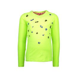 B.Nosy B.Nosy meisjes shirt met borduursel lime