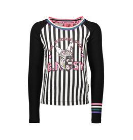 B.Nosy B.Nosy meisjes shirt met strepen en zebra