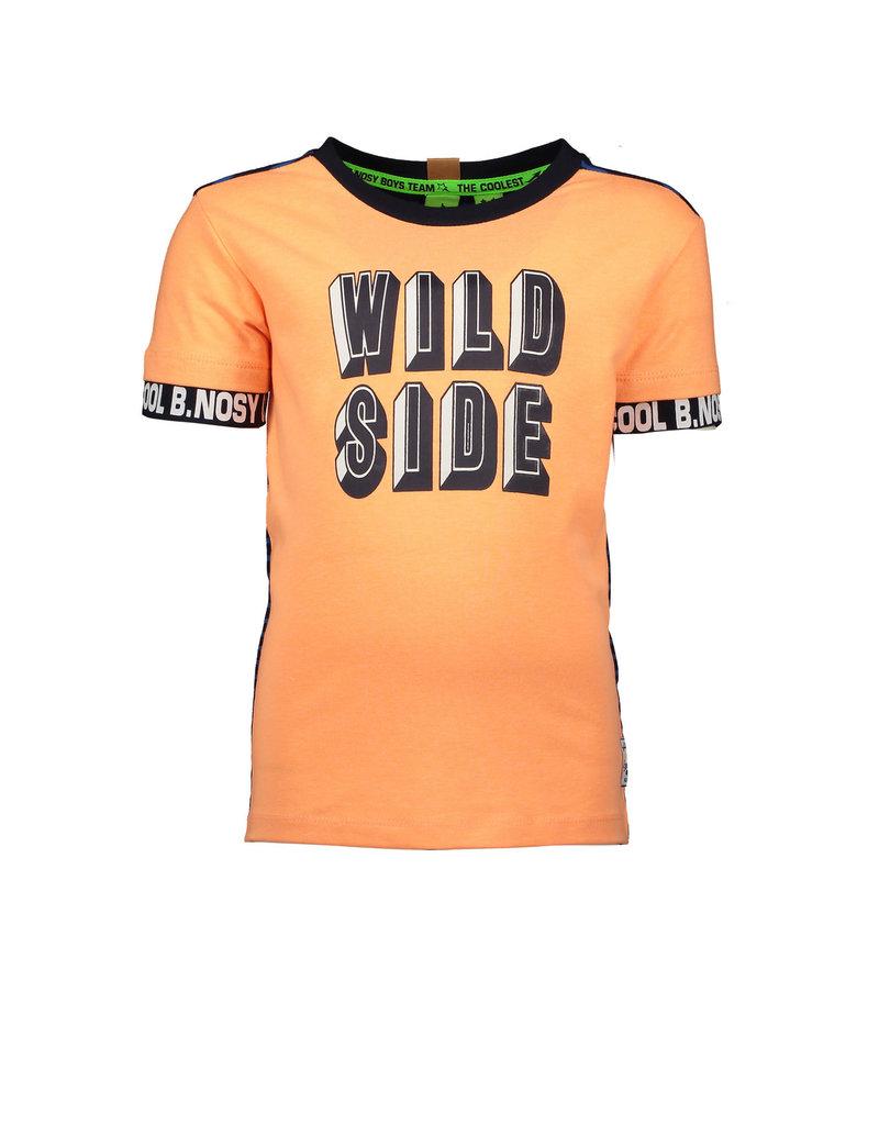 B.Nosy B.Nosy jongens t-shirt Wild Side met strepen op de rug