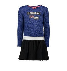 B.Nosy B.Nosy meisjes jurk met geplooide jersey rok