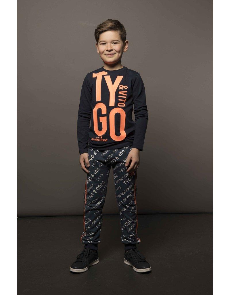 TYGO & vito TYGO & vito jongens shirt TYGO & VITO Blue