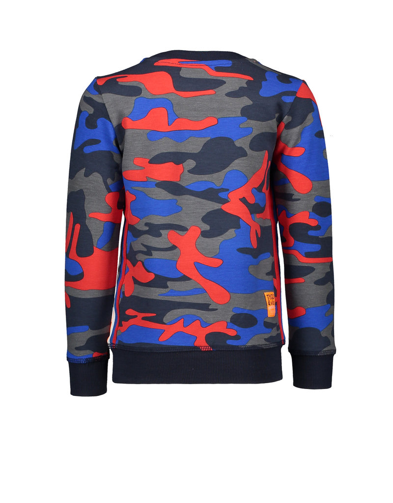 TYGO & vito TYGO & vito jongens sweater AOP Camouflage WHAT?