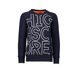 TYGO & vito TYGO & vito jongens sweater HIGHSCORE met een AOP rug