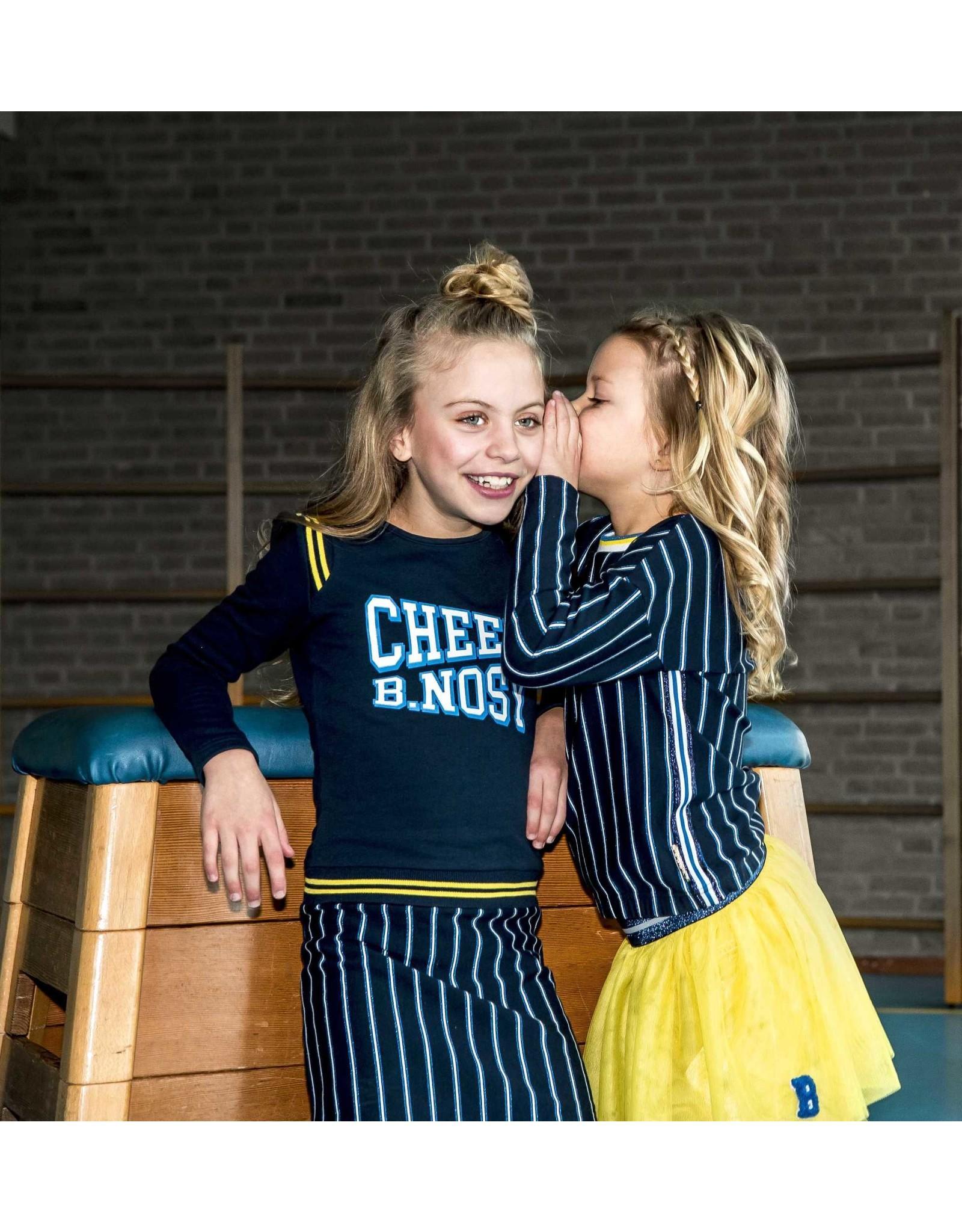 B.Nosy B.Nosy meisjes jurk met verticaal gestreepte rok