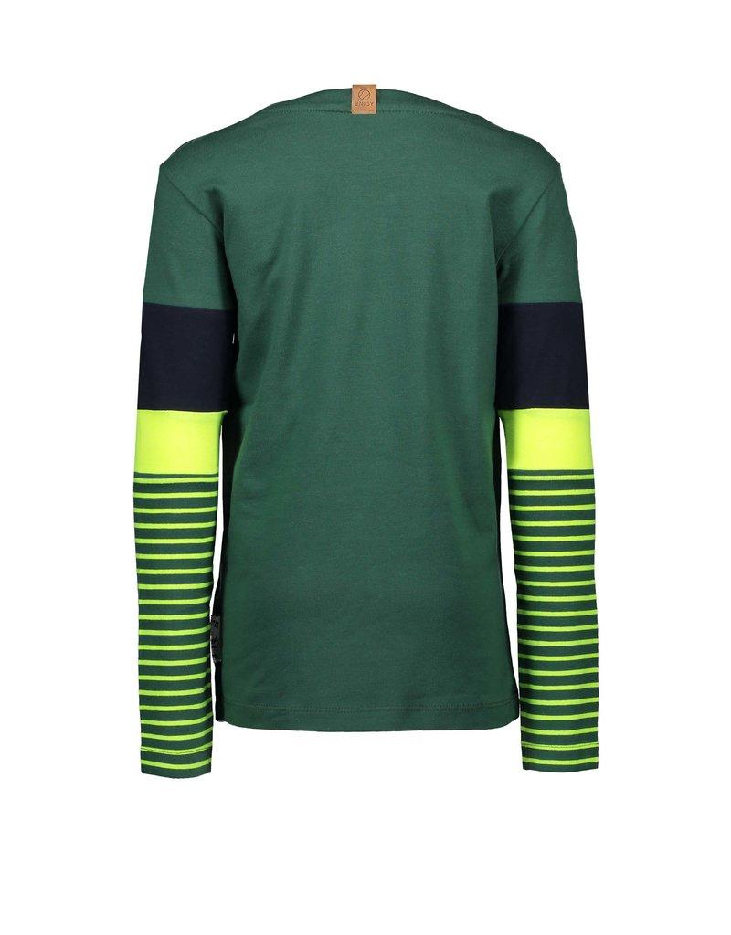 B.Nosy B.Nosy jongens shirt BORN TO BE AWESOME Green