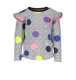 B.Nosy B.Nosy baby meisjes shirt met ao print