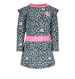 B.Nosy B.Nosy baby meisjes jurk met panterprint