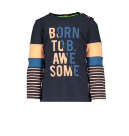 B.Nosy B.Nosy baby jongens shirt BORN TO BE AWESOME