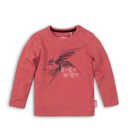Koko Noko Koko Noko baby meisjes shirt met vogel