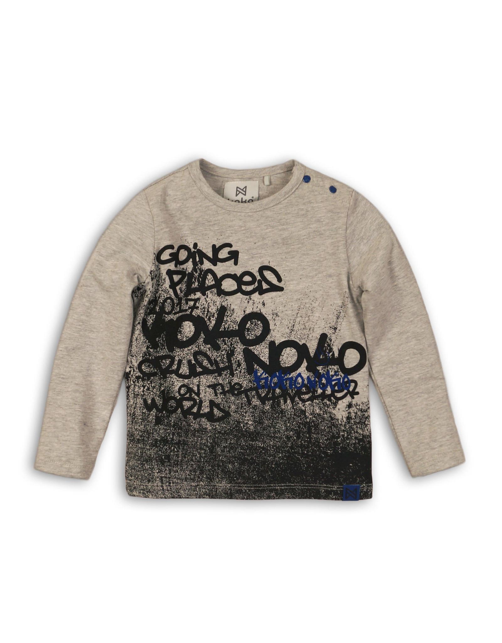 Koko Noko Koko Noko jongens shirt Grey