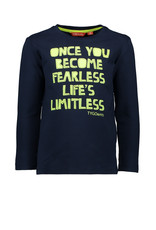 TYGO & vito TYGO & vito jongens shirt ONCE YOU BECOME FEARLESS LIFE'S LIMITLESS
