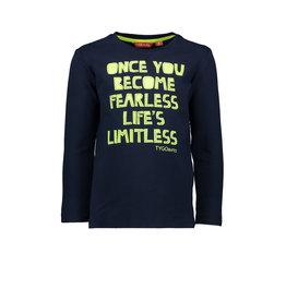 TYGO & vito TYGO & vito jongens shirt ONCE YOU BECOME FEARLESS LIFE'S LIMITLESS