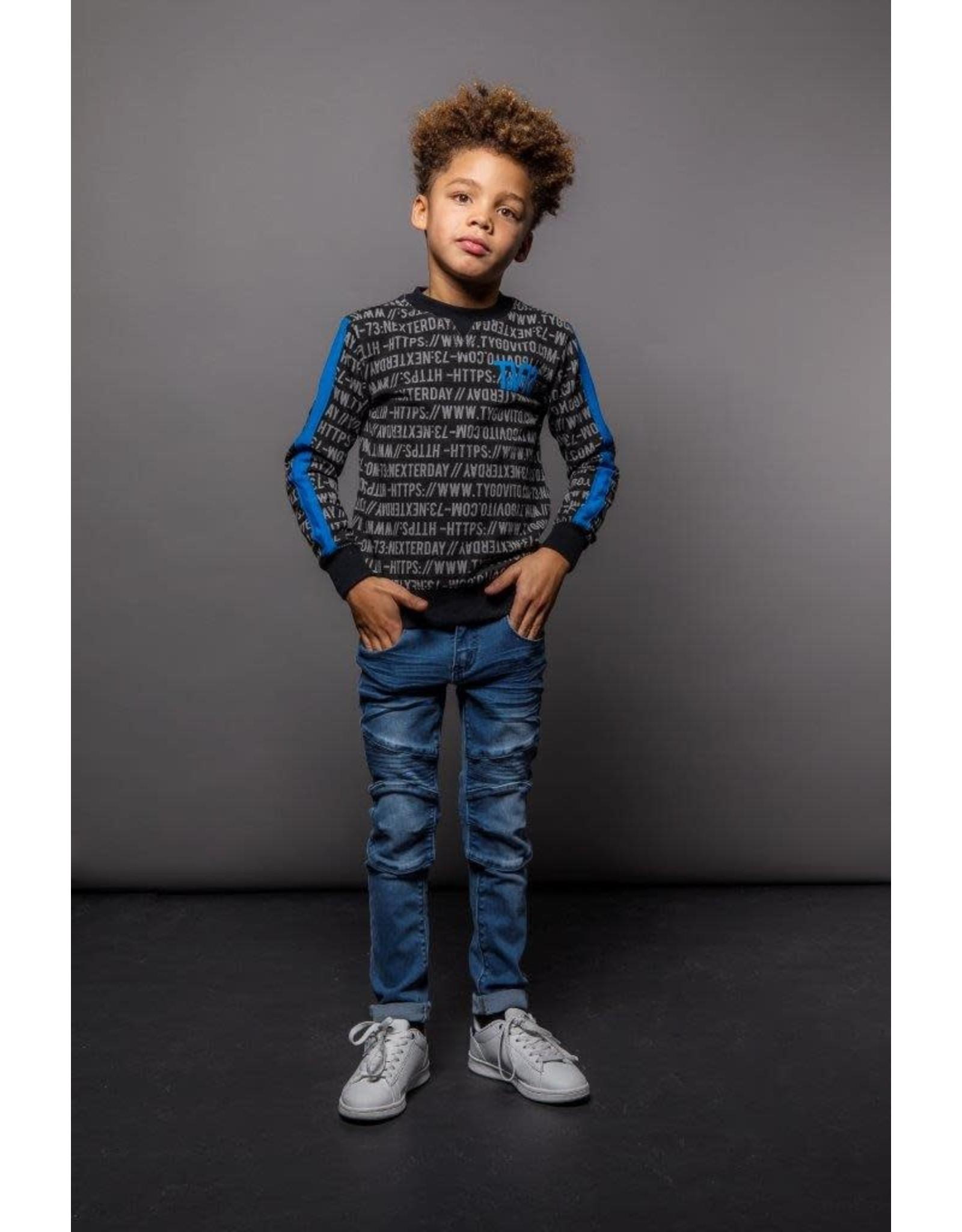 TYGO & vito TYGO & vito jongens sweater AOP WWW. TYGOVITO.COM