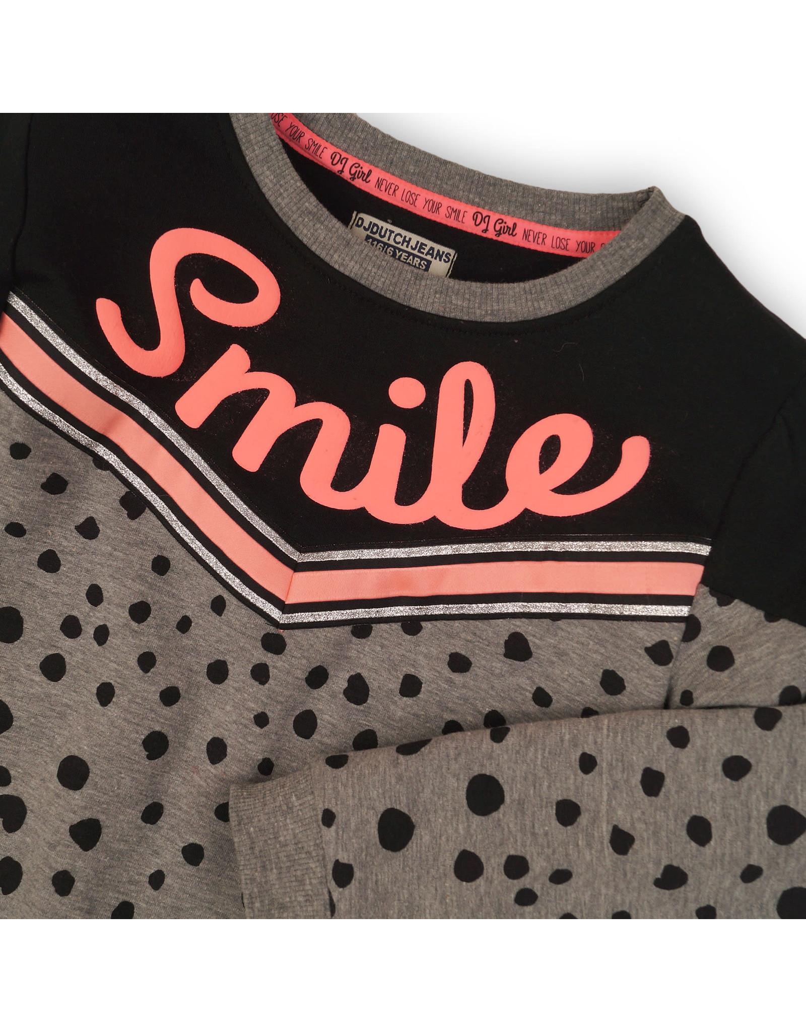 DJ Dutchjeans DJ Dutchjeans meiden sweater NEVER LOSE YOUR SMILE