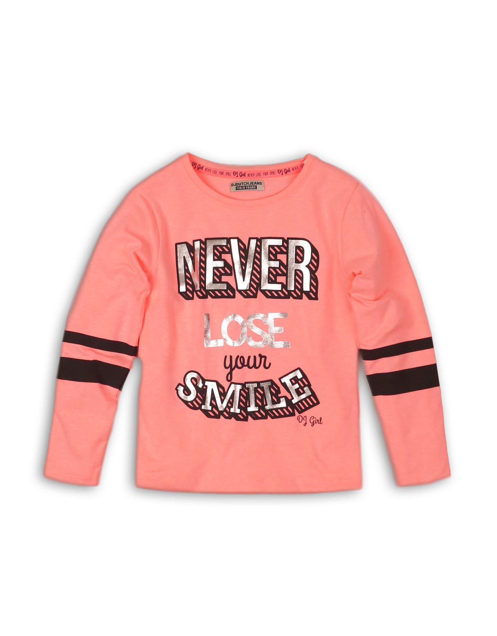 DJ Dutchjeans DJ Dutchjeans meiden shirt NEVER LOSE YOUR SMILE