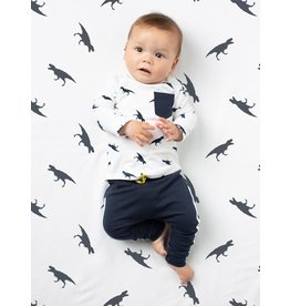 Quapi Quapi newborn jongens dino shirt Xabi