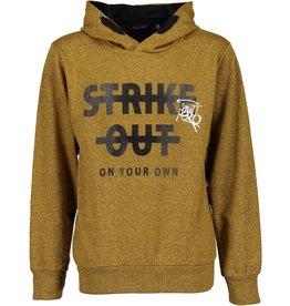 Blue Seven Blue Seven jongens hoodie STREET CUTS okergeel