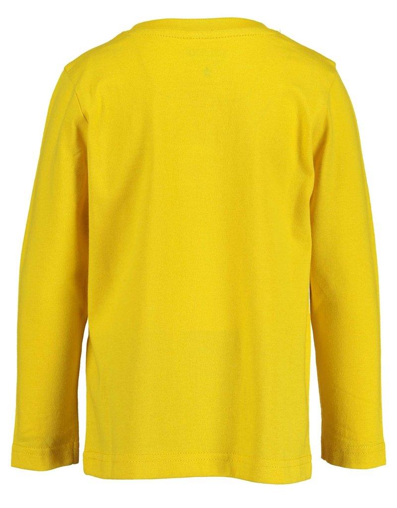 Blue Seven Blue Seven jongens shirt LET'S TRAVEL geel
