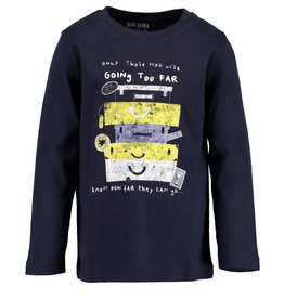 Blue Seven Blue Seven jongens shirt LET'S TRAVEL navy