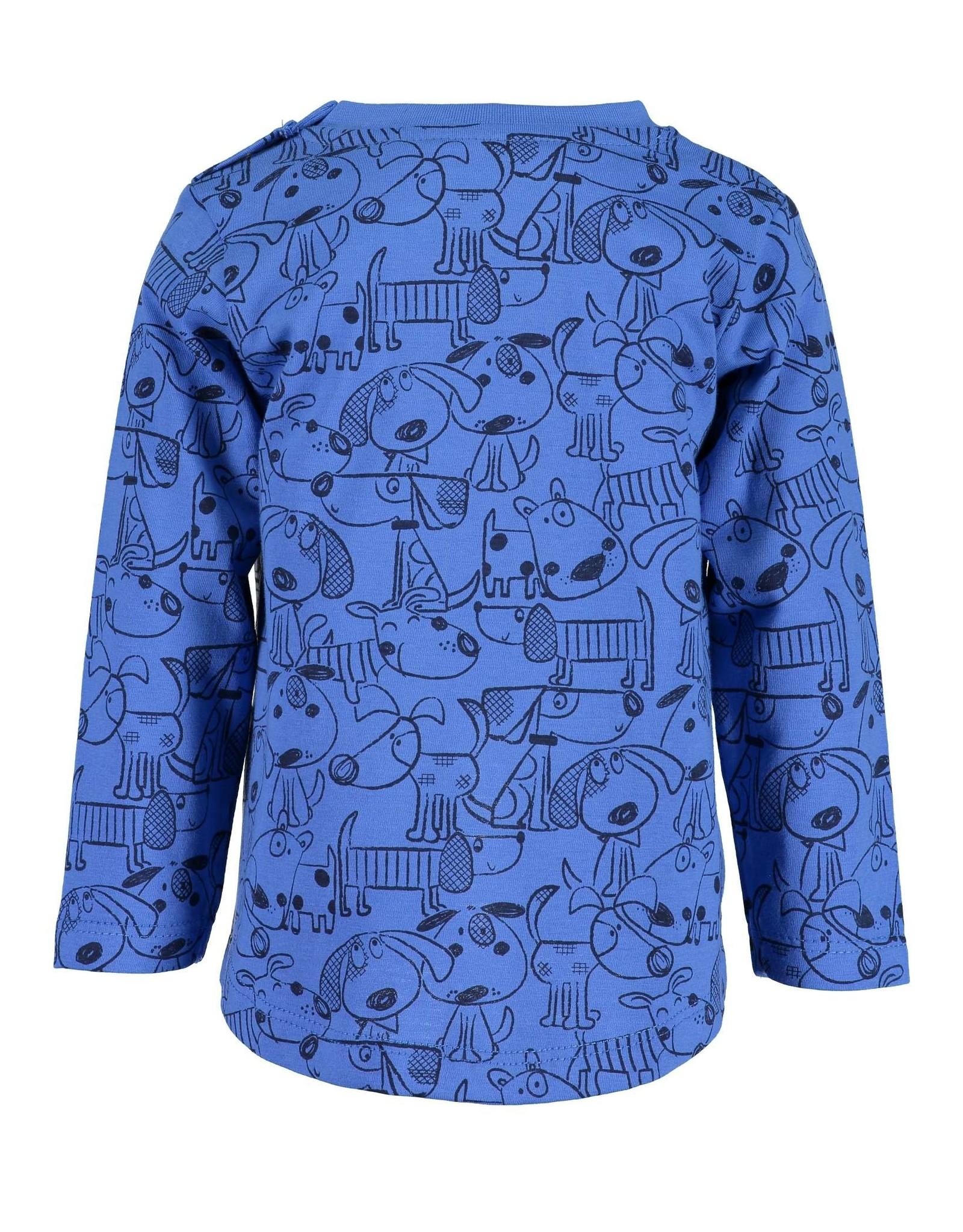 Blue Seven Blue Seven baby jongens shirt HAPPY DOGS
