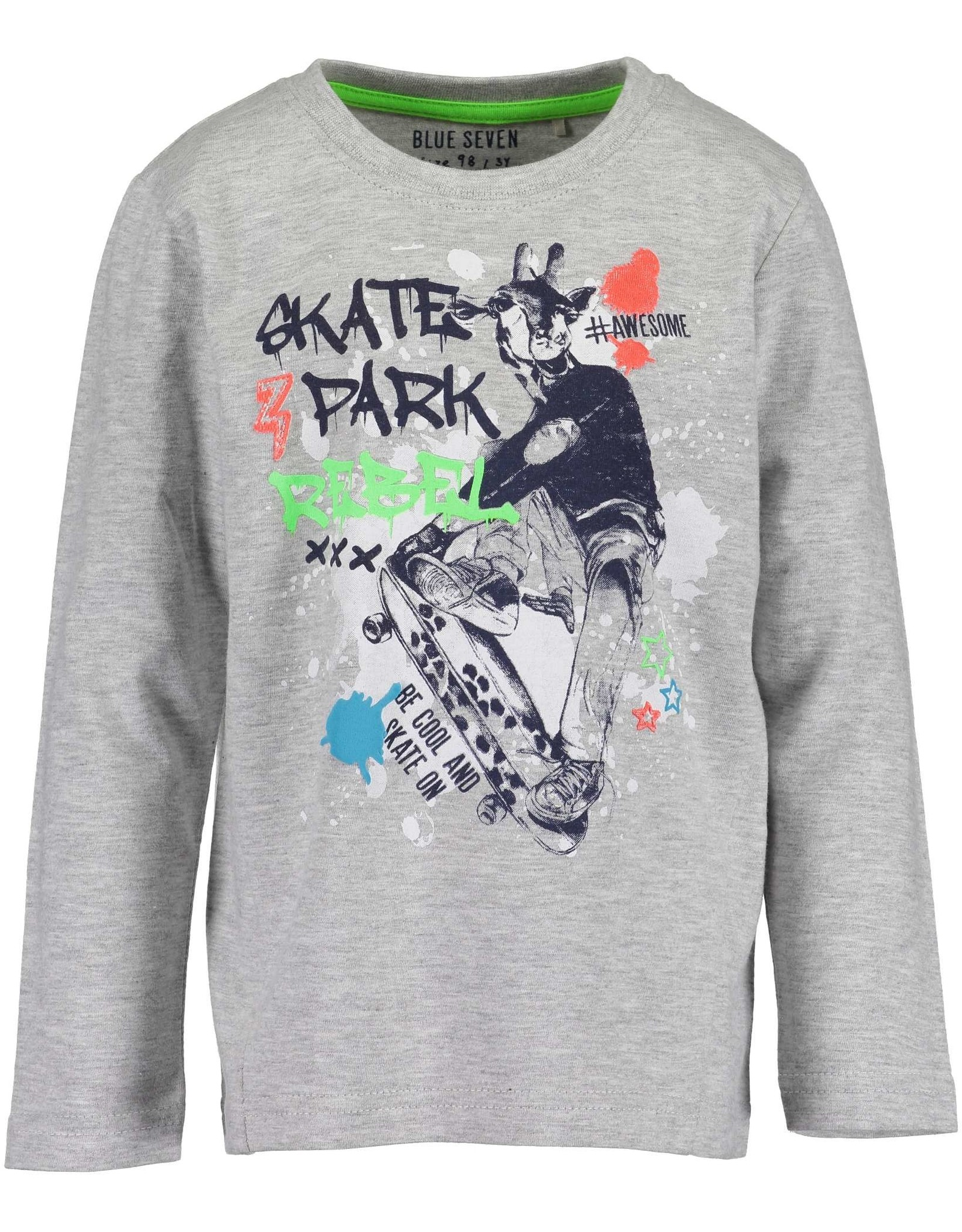 Blue Seven Blue Seven jongens shirt SKATER BOY grijs