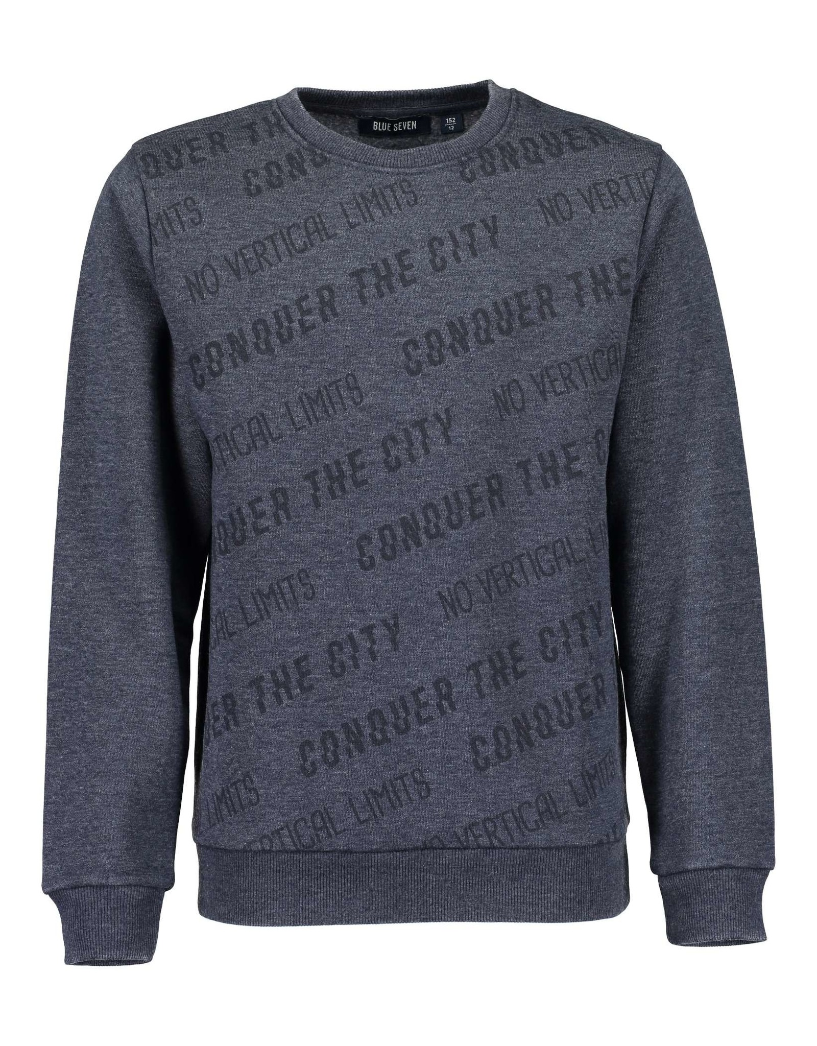 Blue Seven Blue Seven jongens sweater NO LIMITS blauw