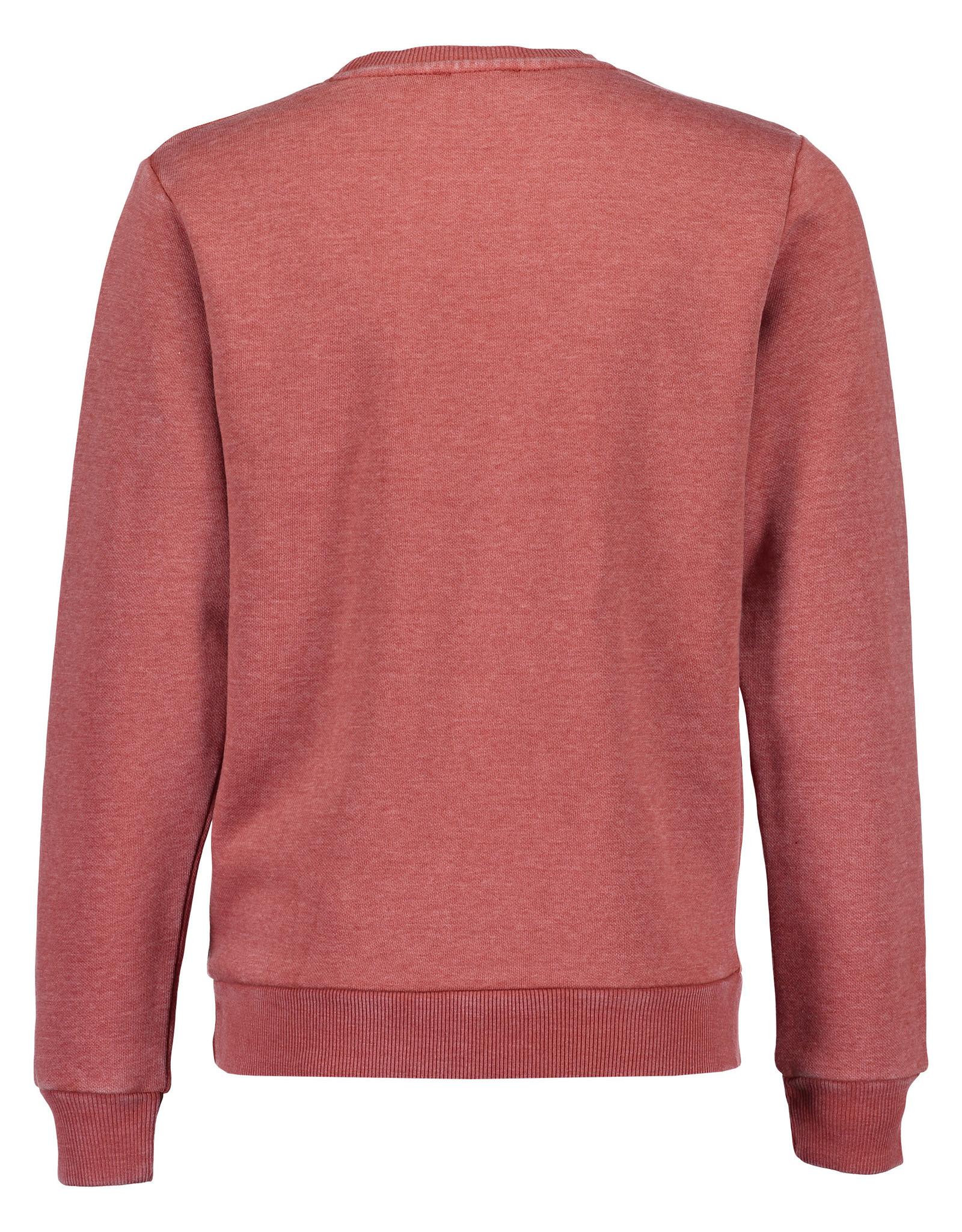 Blue Seven Blue Seven jongens sweater NO LIMITS oranje/rood