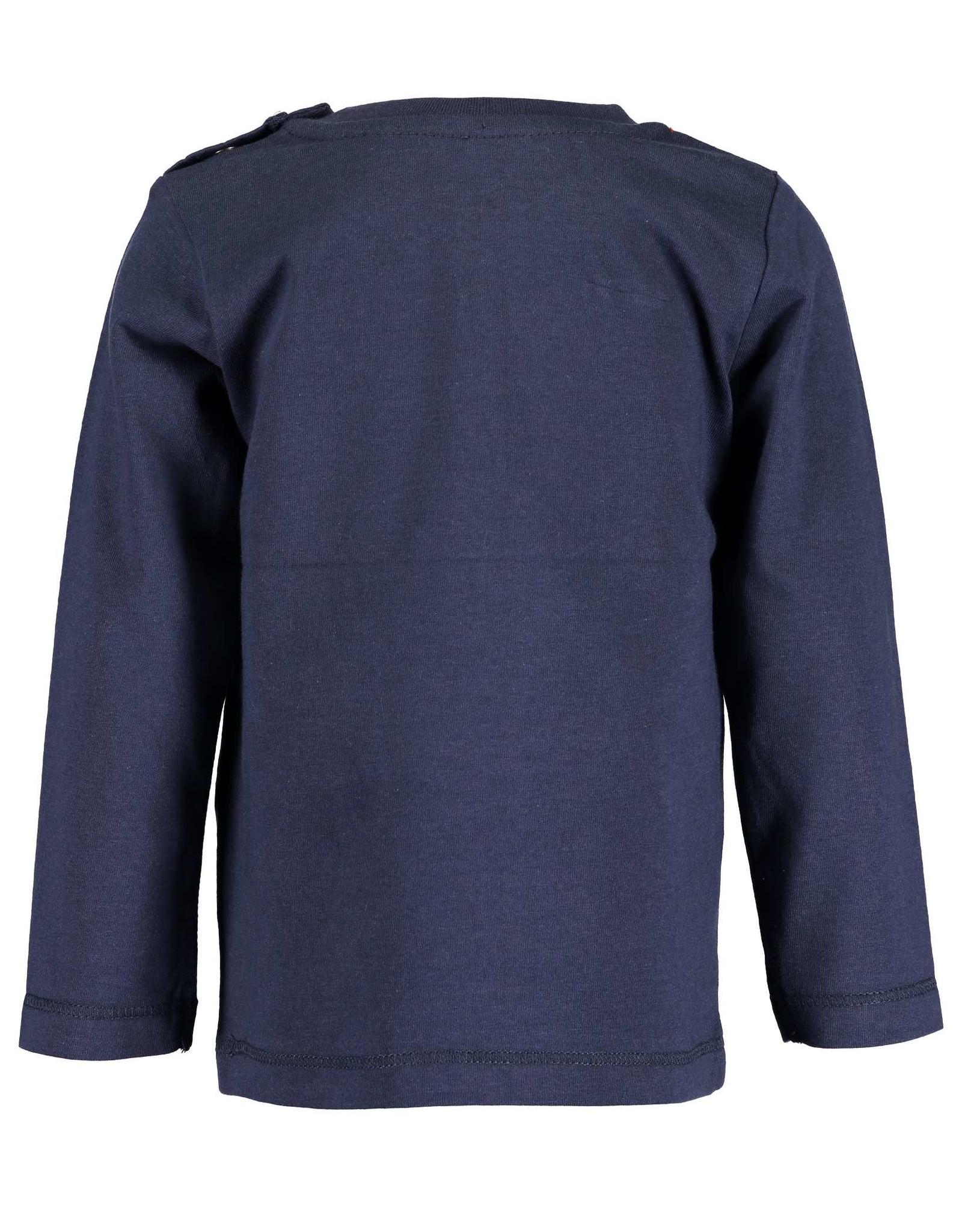 Blue Seven Blue Seven baby jongens shirt NEVER GIVE UP blauw