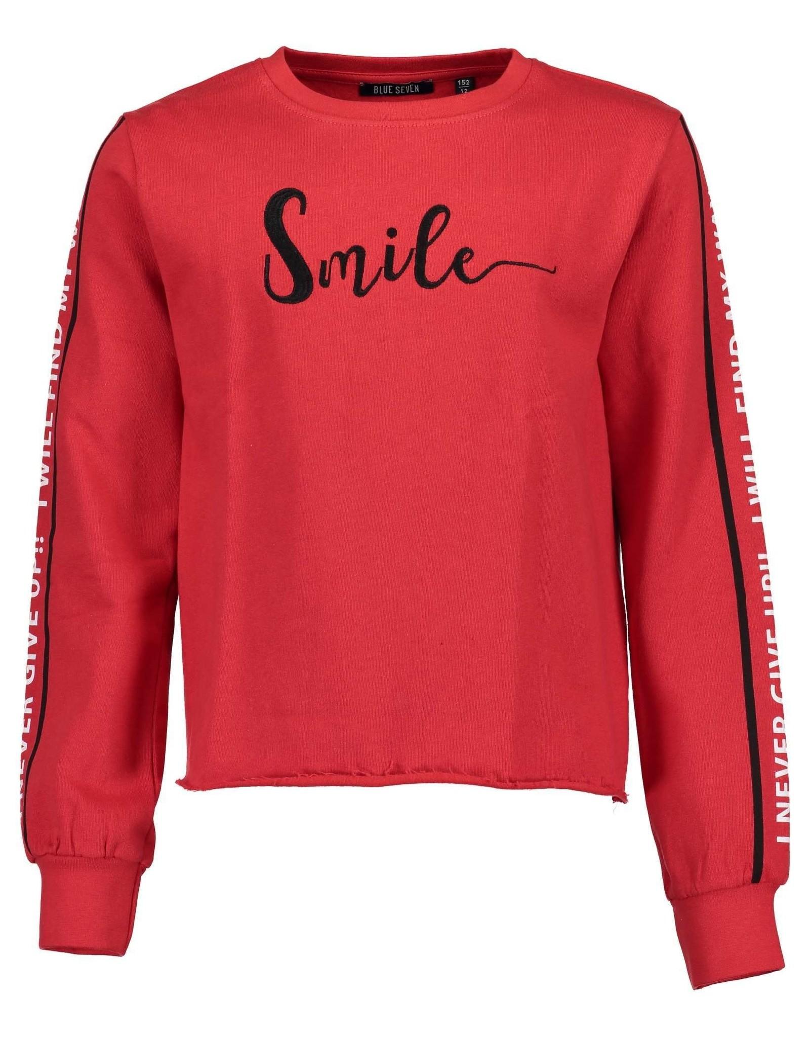 Blue Seven Blue Seven meiden sweater NEVER rood