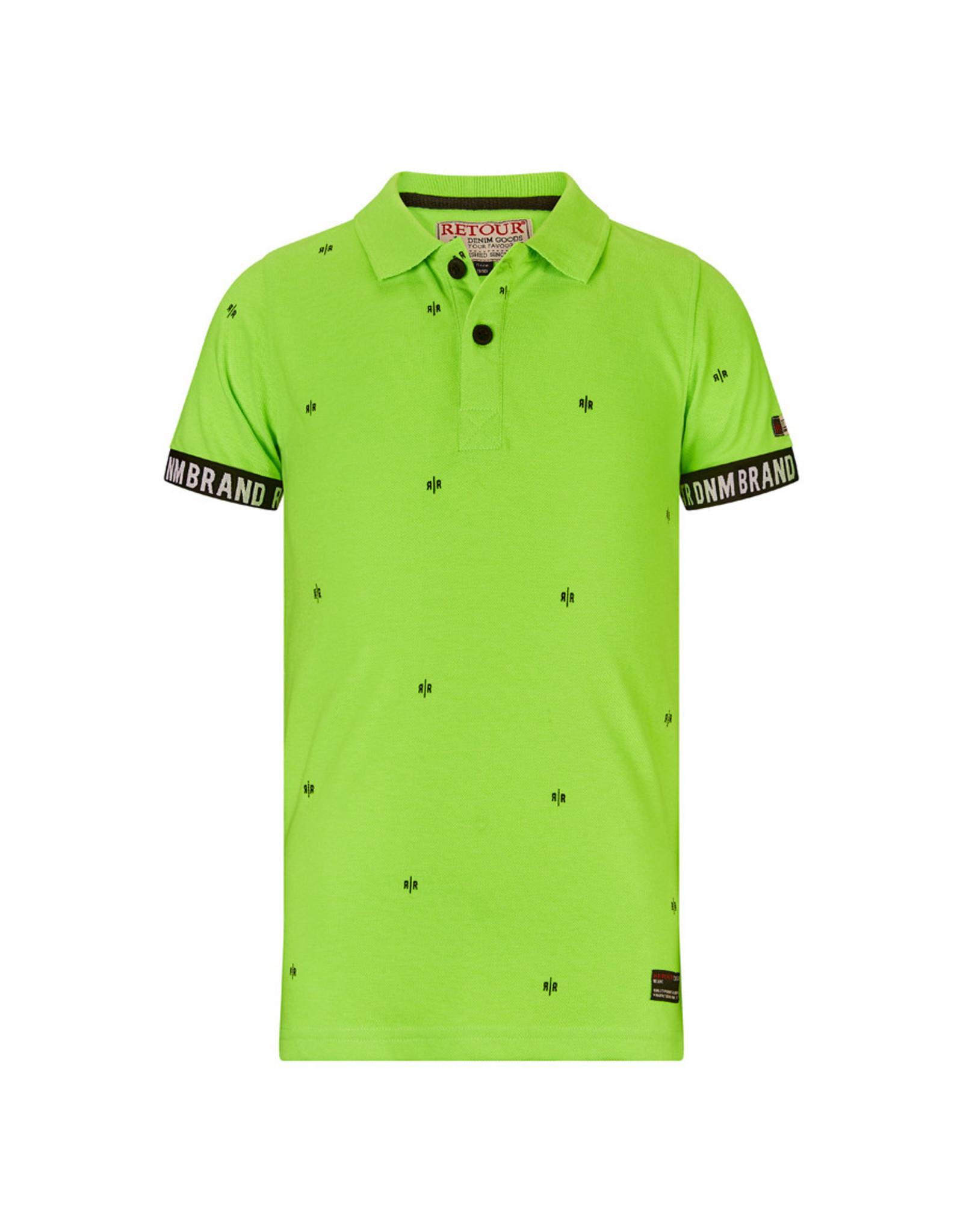 RETOUR Retour jongens polo t-shirt Gustav Green