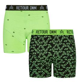 RETOUR Retour jongens 2-pak boxers Enrico Green