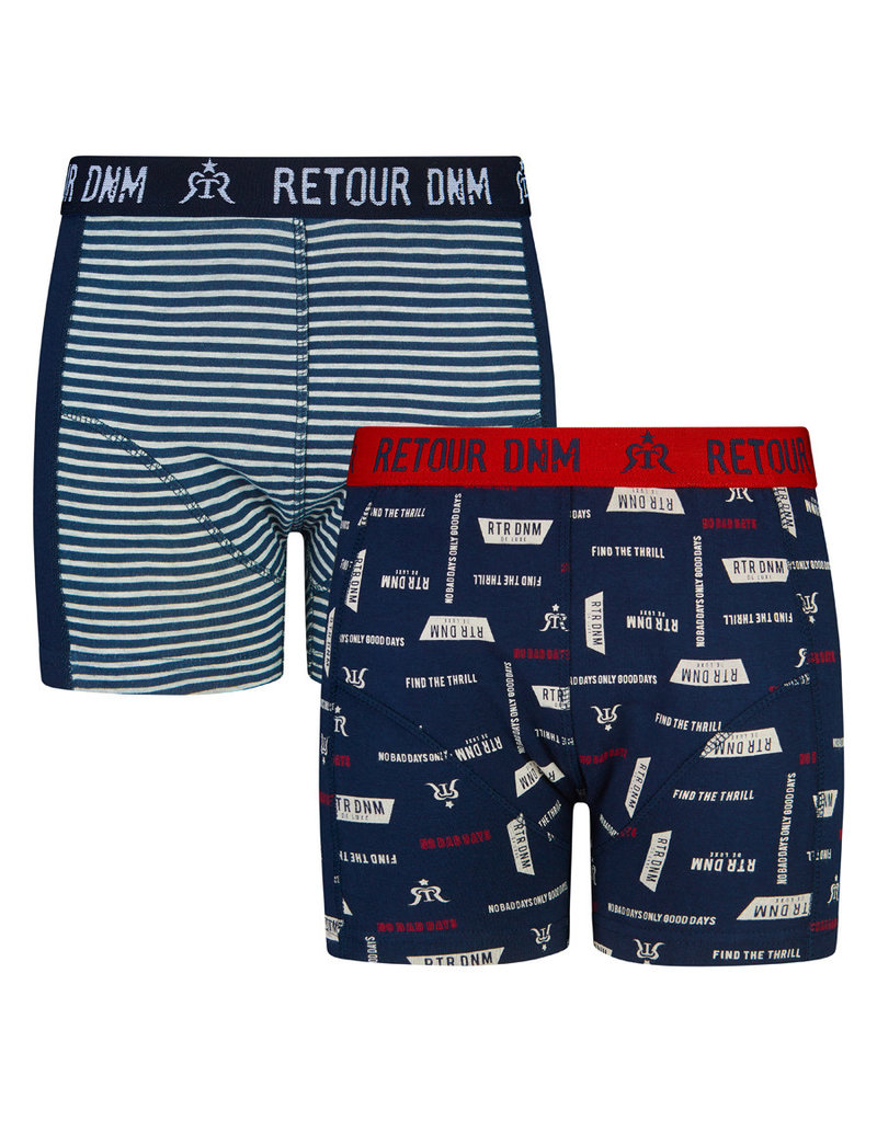 RETOUR Retour jongens 2-pak boxers Vito Navy
