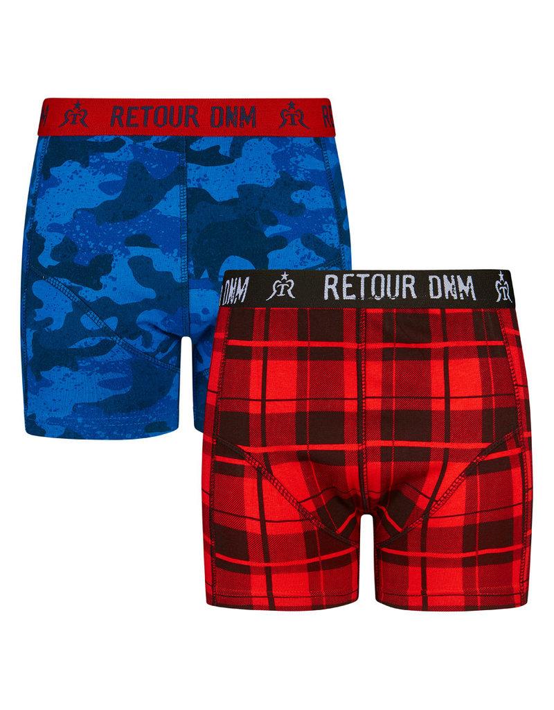 RETOUR Retour jongens 2-pak boxers Jordan Red