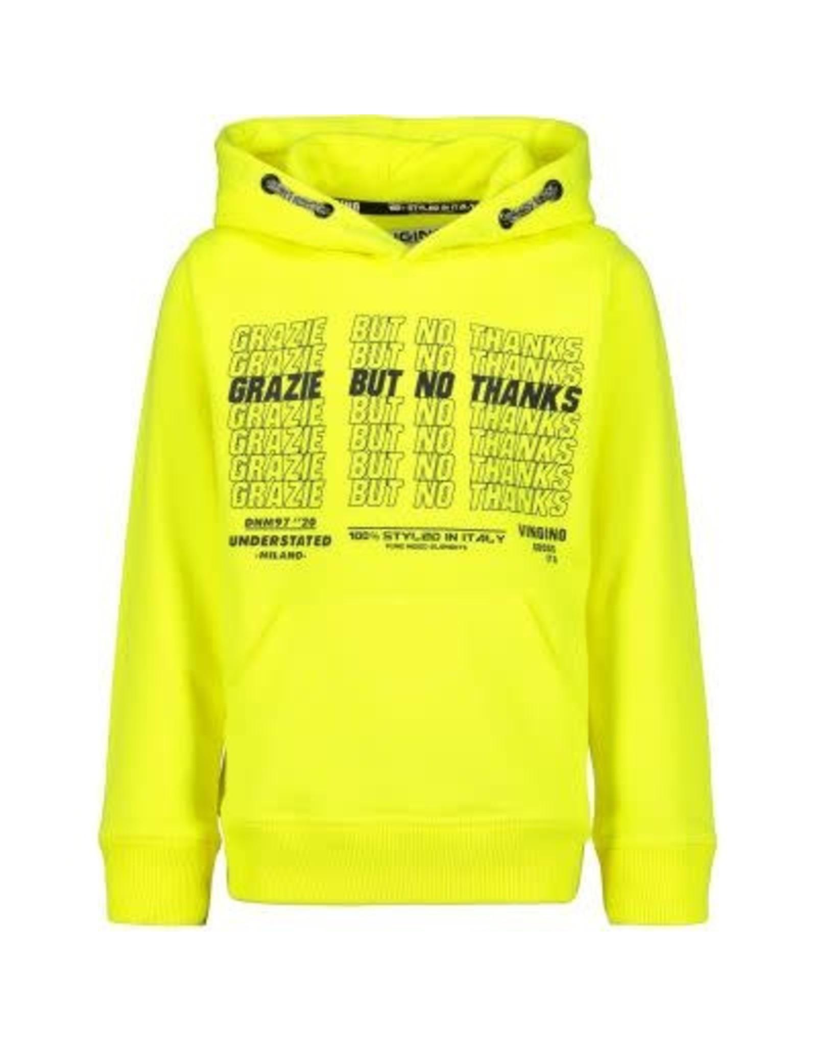 Vingino Vingino jongens hoodie Nuubert Neon Yellow