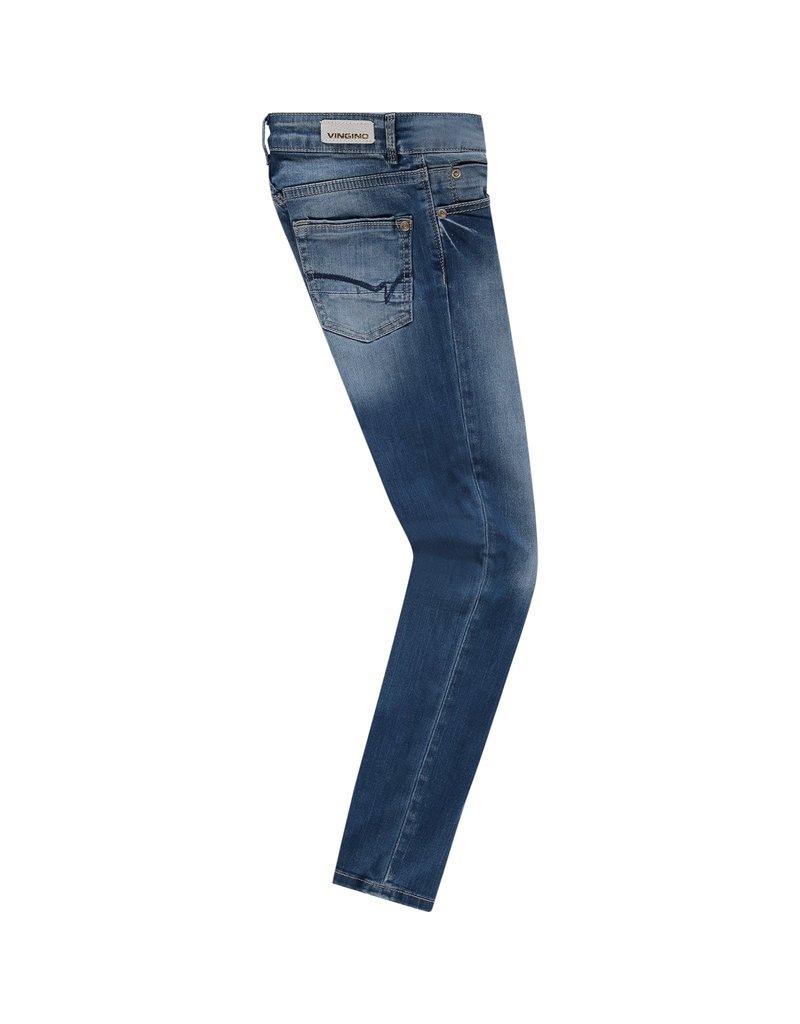 Vingino Vingino meiden jeans flex fit Bettine Blue Vintage