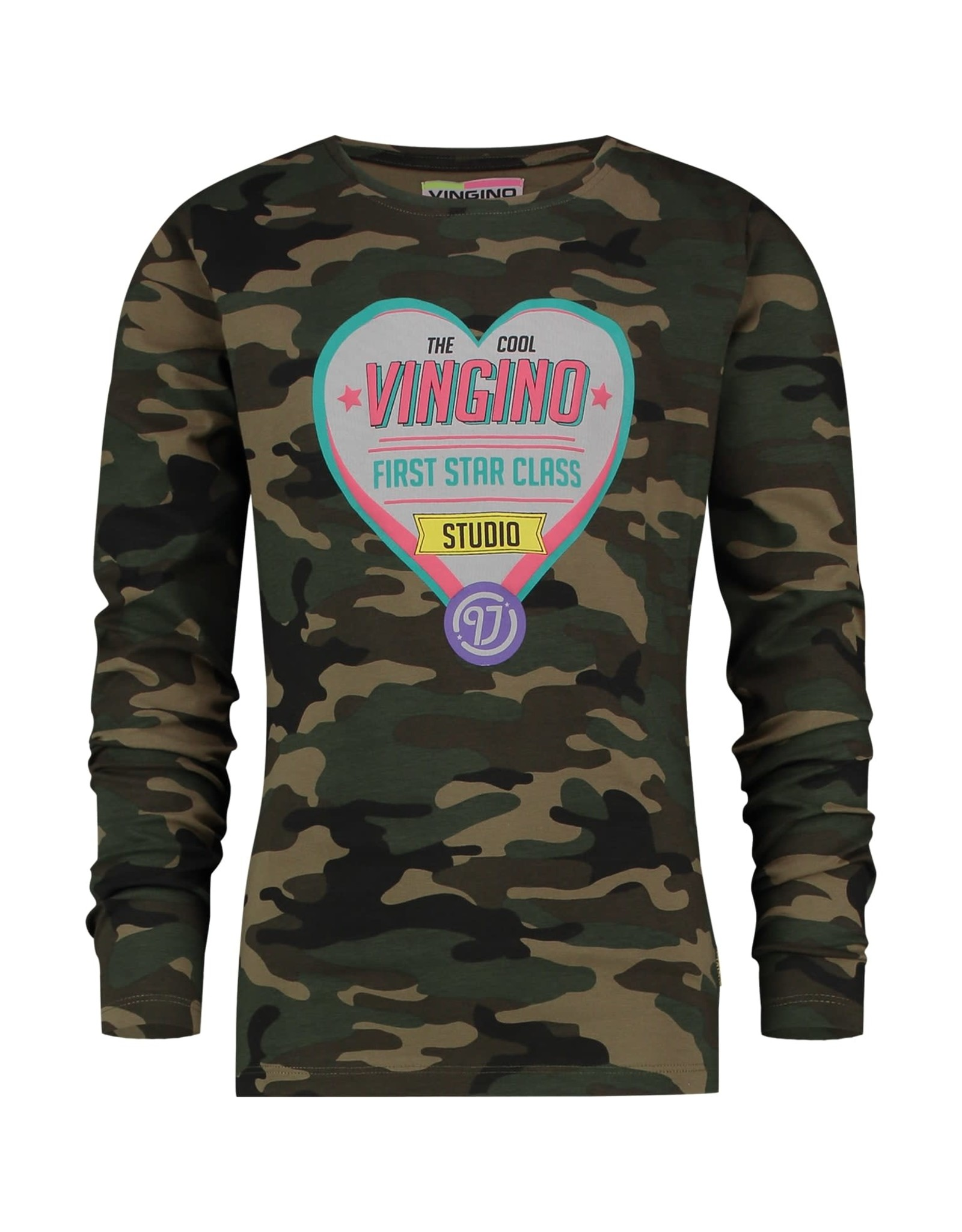 Vingino Vingino meiden shirt Jaice Army